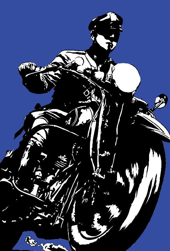 Politie agent op een Harley